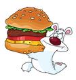 Bear and burger vector