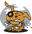 Monster dog with fishbone vector
