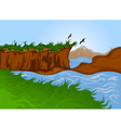 Beautiful nature landscape background vector