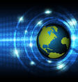 Global technology concept background vector