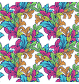 Hand draw leaf seamless pattern vector