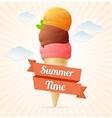 Summer vintage ice cream poster vector