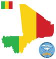 Republic of mali flag vector