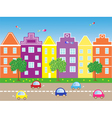 City with cars vector
