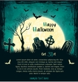 Green grungy halloween background vector