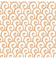 Seamless pattern with abstract doodle curly vector