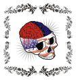 American brain skull vector