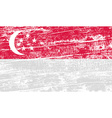 Flag republic of singapore with old texture vector