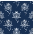 White floral paisley seamless pattern vector