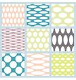 Set of elegant polka dot patterns vector