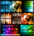 Abstract business backgrounds vector