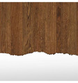 Wooden panel with paper vector