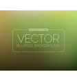 Abstract green blurred background vector