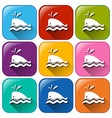 Buttons with dolphins vector