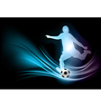 Soccer player abstract vector