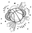 Doodle pop basketball vector