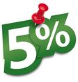 Five percent sticker vector