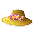A hat with smiling flowers vector