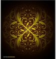 Seamless floral wallpaper pattern black vector