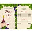 Wine list template vector