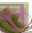Colorful abstract flower with waves vector