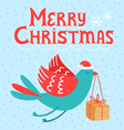 Merry christmas bird vector