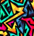 Bright geometric seamless pattern vector