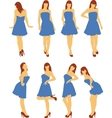 Girls in various poses vector