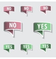 Yes  no check marks buttons vector