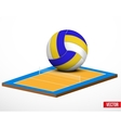 Symbol of a volleyball game and field vector