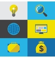 Start-up icon set in flat design style vector