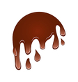 Flow down chocolate blot isolated on white vector