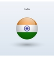 India round flag vector