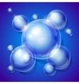 Realistic shiny transparent water drop bubbles on vector