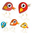 Paper birds vector