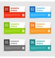 Simple modern infographics options banner set vector