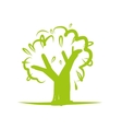 Green tree icon for your design vector