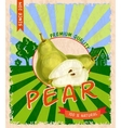 Pear retro poster vector