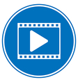 Film strip with play icon vector