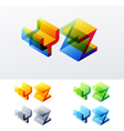 Colored text in isometric view vector