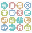 White icons shopping vector