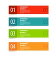 Simple modern infographics options banner vector