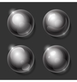 Realistic shiny transparent glass spheres set vector