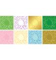Set of floral decorative cards - frames vector