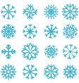 Blue snowflakes set vector