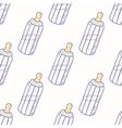 Bottle of milk seamless pattern vector