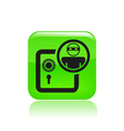 Bank thief icon vector