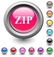Zip round button vector
