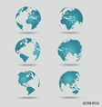 Modern world globe vector