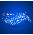 Wave of air bubbles vector